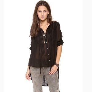 HP Free People Sisters of the Moon Tunic- Black S
